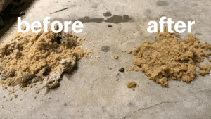 Cleaning a pressure sand filter (TR-140) with enzymes and phosphate remover