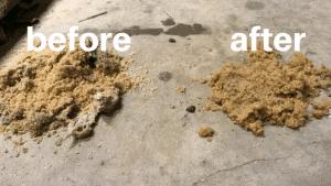 Vacuum sand filter purge