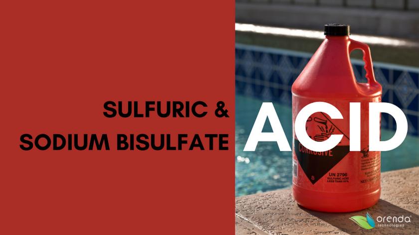 sulfuric acid, sulphuric acid, sodium bisulfate, sulfuric acid pool, difference between muriatic acid and sulfuric acid, sodium bisulfate vs. muriatic acid, sulfates in pool